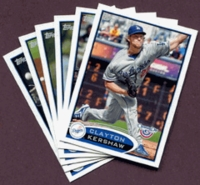 2012 Topps Opening Day Los Angeles Dodgers Baseball Cards Team Set