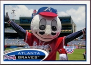 2012 Topps Opening Day Mascots Atlanta Braves Baseball Card