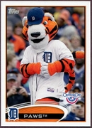 2012 Topps Opening Day Mascots Paws Baseball Card