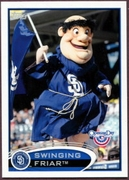2012 Topps Opening Day Mascots Swinging Firar Baseball Card