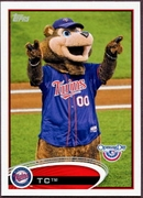 2012 Topps Opening Day Mascots Twins TC Baseball Card