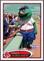 2012 Topps Opening Day Mascots Wally the Green Monster Baseball Card