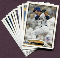 2012 Topps Opening Day Milwaukee Brewers Baseball Cards Team Set