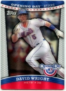 2012 Topps Opening Day Stars 3D David Wright Baseball Card