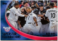 2012 Topps Opening Day Superstar Celebrations Alex Rios Baseball Card