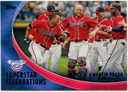 2012 Topps Opening Day Superstar Celebrations Martin Prado Baseball Card
