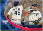 2012 Topps Opening Day Superstar Celebrations Miguel Cabrera Baseball Card