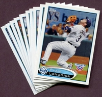 2012 Topps Opening Day Tampa Bay Rays Baseball Cards Team Set
