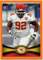 2012 Topps Orange Dontari Poe NFL Football Card