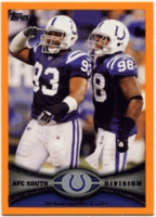 2012 Topps Orange Indianapolis Colts Team Card NFL Football Card