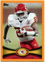 2012 Topps Orange Jamaal Charles NFL Football Card