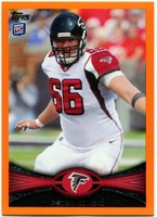 2012 Topps Orange Peter Konz NFL Football Card