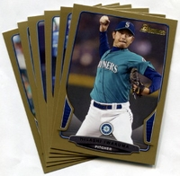 2013 Bowman Gold Seattle Mariners Baseball Card Team Set