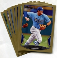 2013 Bowman Gold Tampa Bay Rays Baseball Card Team Set