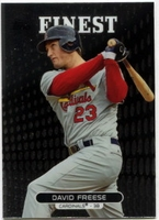 2013 Finest David Freese Baseball Card