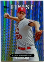 2013 Finest Gold Refractors Adam Wainwright Baseball Card 46/50