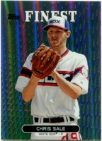 2013 Finest Green Refractors Chris Sale Baseball Card