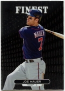 2013 Finest Joe Mauer Baseball Card