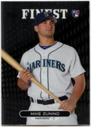 2013 Finest Mike Zunino Rookie Baseball Card