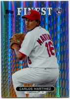 2013 Finest Orange Refractors Carlos Martinez Baseball Card