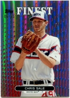 2013 Finest Red Refractors Chris Sale Baseball Card 06/25