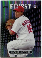 2013 Finest Refractors Carlos Martinez Baseball Card