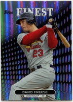 2013 Finest Refractors David Freese Baseball Card