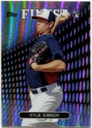 2013 Finest Refractors Kyle Gibson Baseball Card