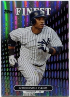 2013 Finest Refractors Robinson Cano Baseball Card