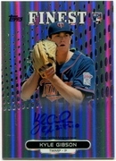 2013 Finest Rookie Autographs Refractors Kyle Gibson Baseball Card