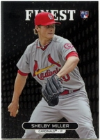 2013 Finest Shelby Miller Rookie Baseball Card