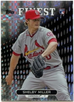 2013 Finest X-Fractors Shelby Miller Baseball Card