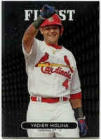 2013 Finest Yadier Molina Baseball Card