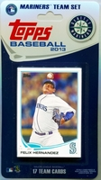 2013 Seattle Mariners Topps MLB Factory Baseball Cards Team Set