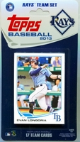 2013 Tampa Bay Rays Topps MLB Factory Baseball Cards Team Set