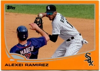 2013 Topps Factory Set Orange Alexei Ramirez Baseball Card
