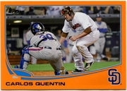 2013 Topps Factory Set Orange Carlos Quentin Baseball Card