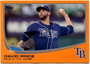 2013 Topps Factory Set Orange David Price Baseball Card