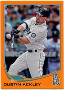 2013 Topps Factory Set Orange Dustin Ackley Baseball Card