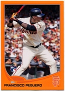 2013 Topps Factory Set Orange Francisco Peguero Rookie Baseball Card