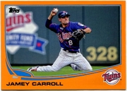 2013 Topps Factory Set Orange Jamey Carroll Baseball Card