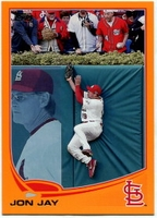 2013 Topps Factory Set Orange Jon Jay Baseball Card