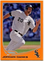 2013 Topps Factory Set Orange Jordan Danks Baseball Card