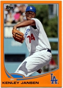 2013 Topps Factory Set Orange Kenley Jansen Baseball Card