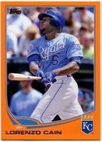 2013 Topps Factory Set Orange Lorenzo Cain Baseball Card