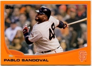 2013 Topps Factory Set Orange Pablo Sandoval Baseball Card