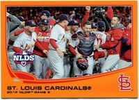 2013 Topps Factory Set Orange St Louis Cardinals NLDS Game 5 Baseball Card