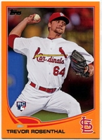 2013 Topps Factory Set Orange Trevor Rosenthal Baseball Card