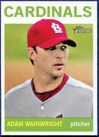 2013 Topps Heritage Adam Wainwright Baseball Card