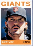 2013 Topps Heritage Barry Zito Baseball Card